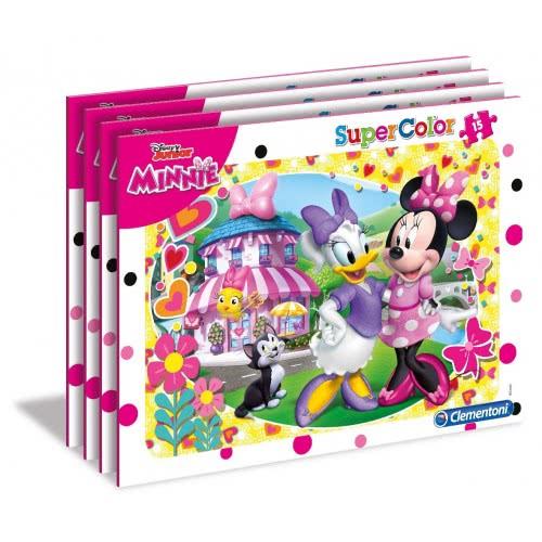 Clementoni Παζλ Καρτέλα 15τεμ. Super Color Minnie Happy Helper - 4 Σχέδια 22230 8005125222308