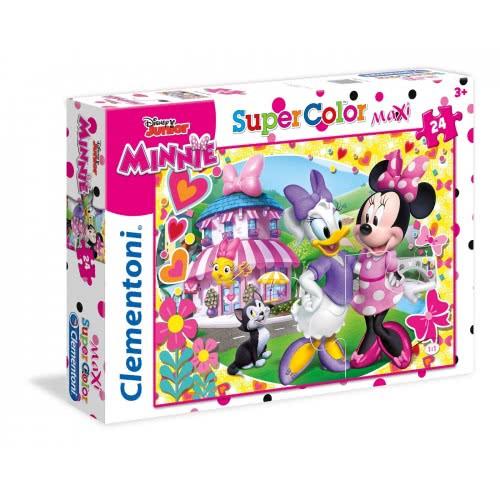 Clementoni Puzzle 24pc Maxi Super Color Minnie Happy Helper 24480 8005125244805