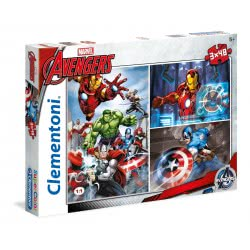 Clementoni Παζλ 3x48τεμ. Super Color Marvel Avengers: Εκδικητές 25203 8005125252039