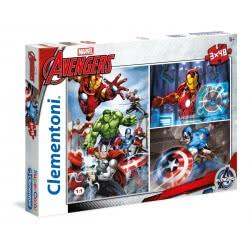 Clementoni Puzzle 3X48pc Super Color Marvel Avengers 25203 8005125252039