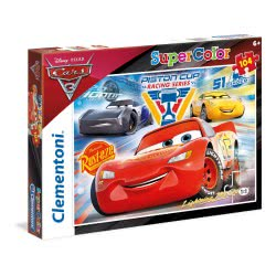 Clementoni Puzzle 104pc Super Color Cars 3: Piston Cup Legends 27072 8005125270729