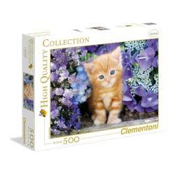 Clementoni Παζλ 500τεμ. High Quality Collection Γατάκι Με Γαλανά Ματάκια 30415 8005125304158