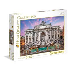 Clementoni Puzzle 500pc High Quality Collection Fontana Di Trevi 35047 8005125350476