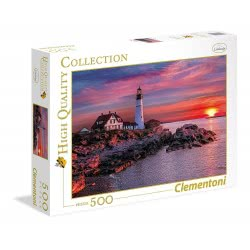Clementoni Puzzle 500pc High Quality Collection Portland Head Lights 35049 8005125350490
