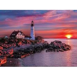 Clementoni Παζλ 500τεμ. High Quality Collection Ηλιοβασίλεμα στο Φάρο του Πορτλαντ 35049 8005125350490