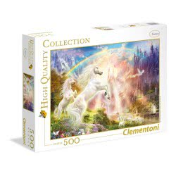Clementoni Puzzle 500pc High Quality Collection Sunset Unicorns 35054 8005125350544