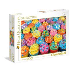 Clementoni Puzzle 500pc High Quality Collection Colorful Cupcakes 35057 8005125350575