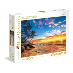 Clementoni Puzzle 500pc High Quality Collection Heavenly Beach 35058 8005125350582