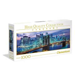 Clementoni Puzzle 1000pc High Quality Collection Panorama New York - Brooklyn Bridge 39434 8005125394340