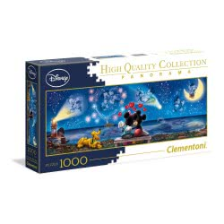 Clementoni Puzzle 1000pc High Quality Collection Panorama Mickey and Minnie 39449 8005125394494