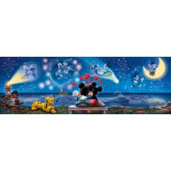 Clementoni Παζλ 1000τεμ. High Quality Collection Panorama Mickey and Minnie 39449 8005125394494