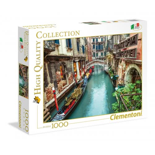 Clementoni Puzzle 1000pc High Quality Collection Venice Canal 39458 8005125394586