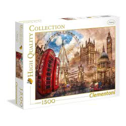 Clementoni Παζλ 1500Τεμ. High Quality Collection Κλασικό Λονδίνο 1220-31807 8005125318070
