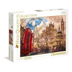 Clementoni Puzzle 1500pc High Quality Collection Vintage London 31807 8005125318070