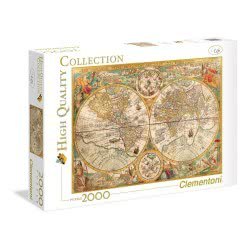 Clementoni Puzzle 2000pc High Quality Collection Ancient Map 32557 8005125325573