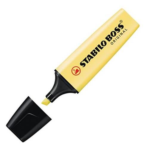 STABILO Boss Μαρκαδόρος Υπογράμμισης Pastel Κίτρινο 128070452 Yellow 4006381492416