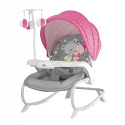 Lorelli Baby Rocker Dream Time ZaZa, Pink-Grey 1011006 1817 3800151965183