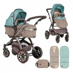 Lorelli Baby Combi Stroller Aurora Bear Beige - Green 1002092 1846 3800151955634