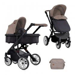 Lorelli Baby Stroller Luna 2 In 1 Beige - Black 1002080 1851 3800151908586