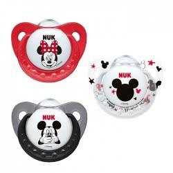 NUK Πιπίλα Σιλικόνης Mickey Mouse - 3 Σχέδια 10736201 4008600286172