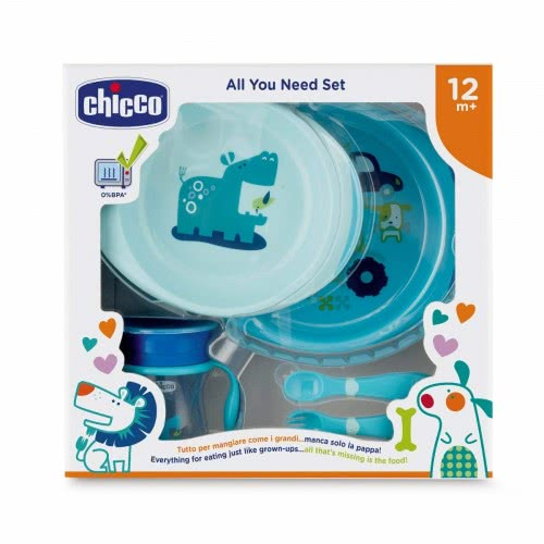 Chicco Σετ Φαγητού All You Need Set 12M+ Σιελ F06-16201-20 8058664086702