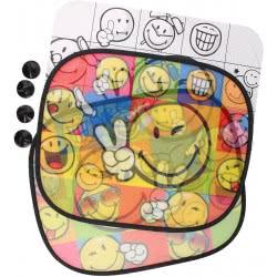 Diakakis imports Ηλιοπροστασία Smiley Αυτοκινήτου Σετ 2 Τεμ Με Πόστερ Χρωματισμού 504525 5205698212789
