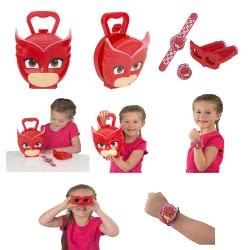 GIOCHI PREZIOSI PJ Masks-Πιτζαμοήρωες Βαλιτσάκι Και Αξεσουάρ - 3 Σχέδια PJM64000 8056379058014
