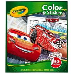 Crayola Cars Color And Sticker 32 Χρωμοσελίδες Και 50 Αυτοκόλλητα 04-0128 071662201289