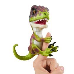 WowWee Fingerlings Untamed Dino Baby Velociraptor - Stealth, Ηλεκτρονικό Ζωάκι Δεινοσαυράκι, Πράσινο 3780 771171137825