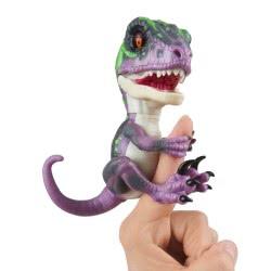 WowWee Fingerlings Untamed Dino Baby Velociraptor - Razor, Ηλεκτρονικό Ζωάκι Δεινοσαυράκι, Μωβ 3780 771171137849