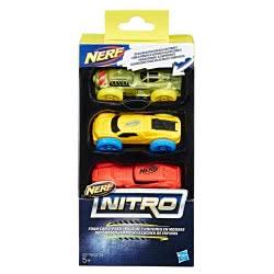 Hasbro NERF Nitro Foam Car 3-Pack-3 Αφρώδες Αυτοκινητάκια C0774 / C0779 5010993419395