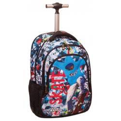 NO FEAR Back Me Up Trolley Backpack  Color Skate 347-43074 5204549112216