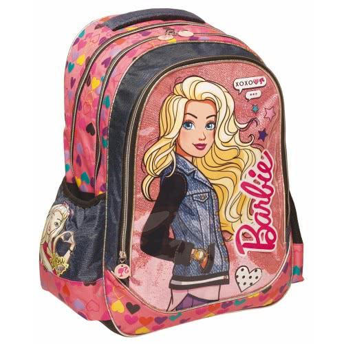4bdeb5818eb GIM Τσάντα Πλάτης Δημοτικού Οβάλ Barbie Be You XOXO + Δώρο Κούκλα 349-60031  5204549113367