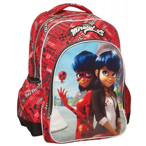 859fef6acf GIM School Backbag Oval Miraculous Ladybug and Marinette Paris 346-01031  5204549109346