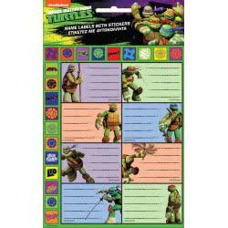 GIM Teenage Mutant Ninja Turtles Hot Stamping Name Labels With Stickers 774-02549 5204549109209