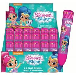 GIM Shimmer and Shine Στυλό 6 Χρωμάτων 334-45648 5204549107564
