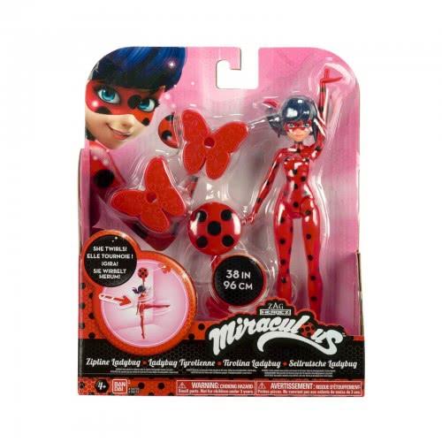 GIOCHI PREZIOSI Miraculous Ladybug Deluxe Φιγούρα Zipline 19εκ. - 3 Σχέδια 39730D / 39730F 3296580397303