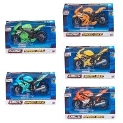 As company Teamsterz Μηχανή Αγώνων Speed Bike 1:43 - 6 Σχέδια 7535-74323 5050837432319