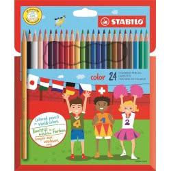 STABILO Color Χρωματιστές Ξυλομπογιές 24 Τεμαχίων 1924 4006381488044