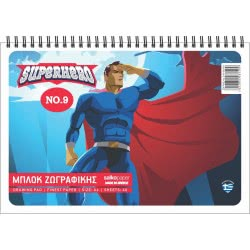 salko paper Drawing Pad N 9 Superhero - 3 Designs 8140 5202832081409