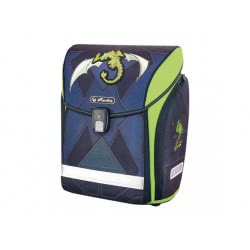 herlitz Σχολική Τσάντα Midi Green Robo Dragon 50013807 4008110558998