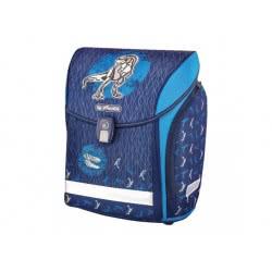 herlitz Σχολική Τσάντα Midi Blue Dino 50013791 4008110558981