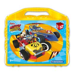 Clementoni Mickey Roadster Racers 12 Cubes 1100-41183 8005125411832