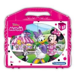 Clementoni Disney Junior Minnie Happy Helper 12 Cube Puzzle 1100-41184 8005125411849