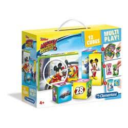 Clementoni Mickey Roadster Racers Παζλ 12 Κύβοι Multiplay 1100-41508 8005125415083