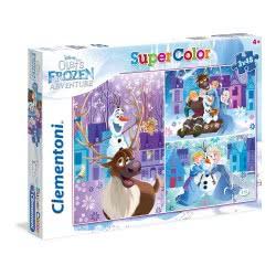 Clementoni Super Color Puzzle Olaf`S Frozen Adventure, 3X48pc 1200-25228 8005125252282