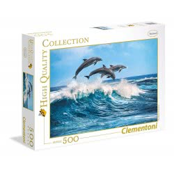 Clementoni High Quality Collection Puzzle Dolphins 500pc 35055 8005125350551