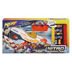 Hasbro Nerf Nitro Doubleclutch Inferno Εκτοξευτής με 4 Αυτοκινητάκια E0858 5010993515851