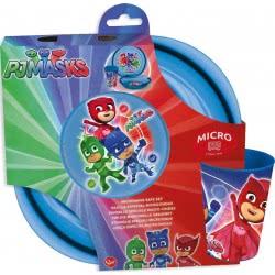 OEM Stor PJ Masks  Easy Micro Set Plate, Glass and Bowl Χ20-01980 8412497019809