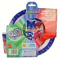OEM Stor PJ Masks  Easy Micro Set Plate, Glass and Deep Plate Χ20-01950 8412497019502